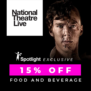 Enjoy 15% off Food & Beverage purchased in Spotlight at all NTLive Shows