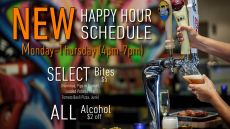 Happy Hour, an item offered on the food and drink specials