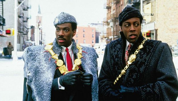 "Movie poster image for ""COMING TO AMERICA"""