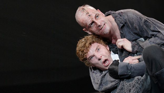"Movie poster image for ""NATIONAL THEATRE LIVE - FRANKENSTEIN - with Johnny Lee Miller as The Creature"""
