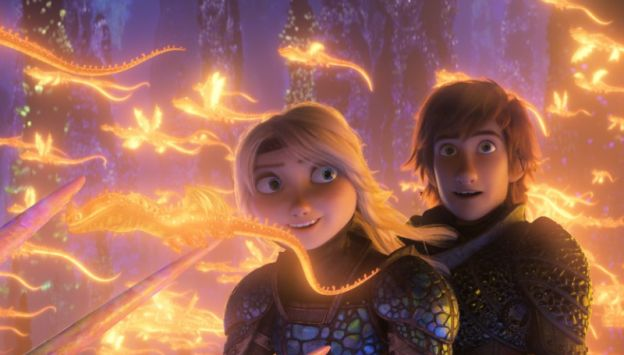 "Movie poster image for ""HOW TO TRAIN YOUR DRAGON: THE HIDDEN WORLD"""