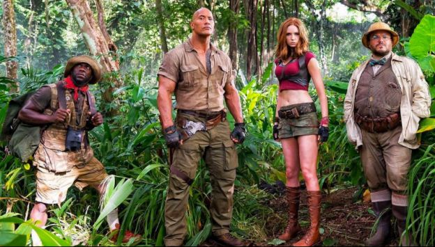 "Movie poster image for ""JUMANJI: WELCOME TO THE JUNGLE"""
