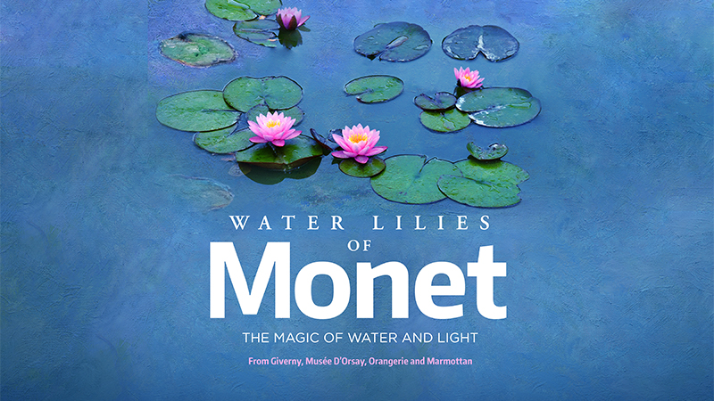 "Movie poster image for ""GREAT ART ON SCREEN: WATER LILIES OF MONET: THE MAGIC OF WATER AND LIGHT"""