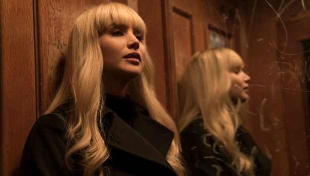 "Movie poster image for ""RED SPARROW"""