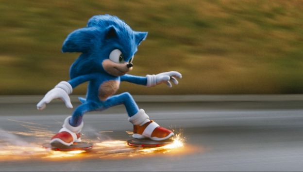 "Movie poster image for ""SONIC THE HEDGEHOG"""