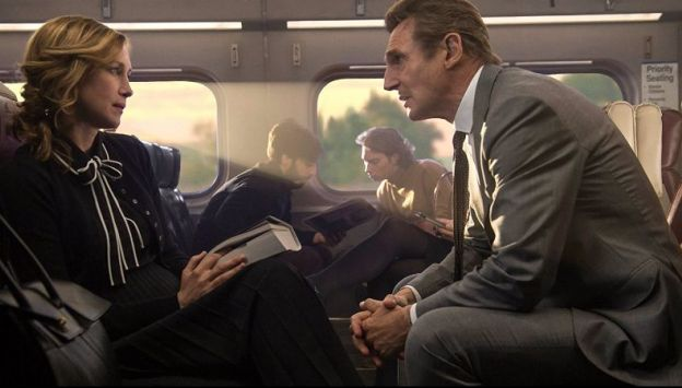 "Movie poster image for ""THE COMMUTER"""
