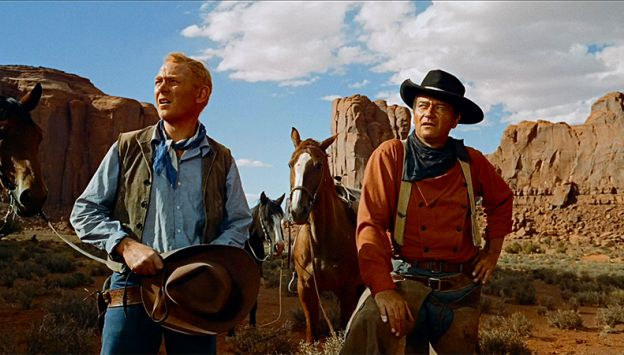 "Movie poster image for ""THE SEARCHERS"""