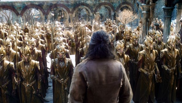 "Movie poster image for ""THE HOBBIT: THE BATTLE OF FIVE ARMIES"""