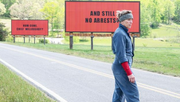 "Movie poster image for ""THREE BILLBOARDS OUTSIDE EBBING, MISSOURI"""