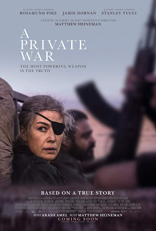 "Movie poster image for ""A PRIVATE WAR"""