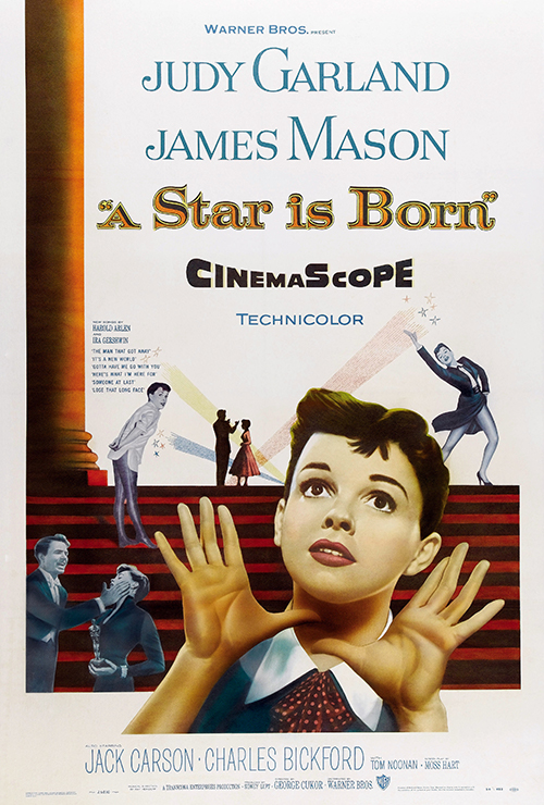 "Movie poster image for ""A STAR IS BORN (1954)"""