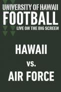 Poster of HAWAII vs. AIR FORCE - UH Football