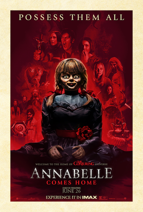 "Movie poster image for ""ANNABELLE COMES HOME in IMAX"""