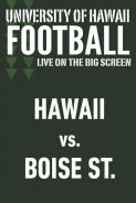 Poster of HAWAII vs. BOISE STATE - UH Football