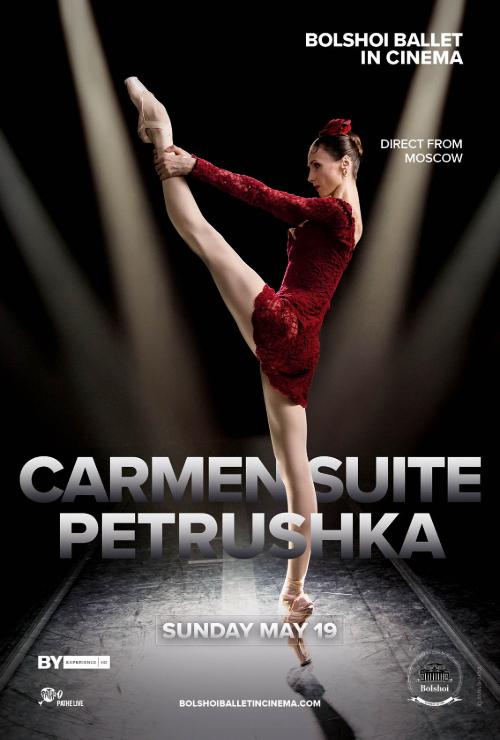 """Movie poster image for """"BOLSHOI BALLET: CARMEN SUITE / PETRUSHKA"""""""