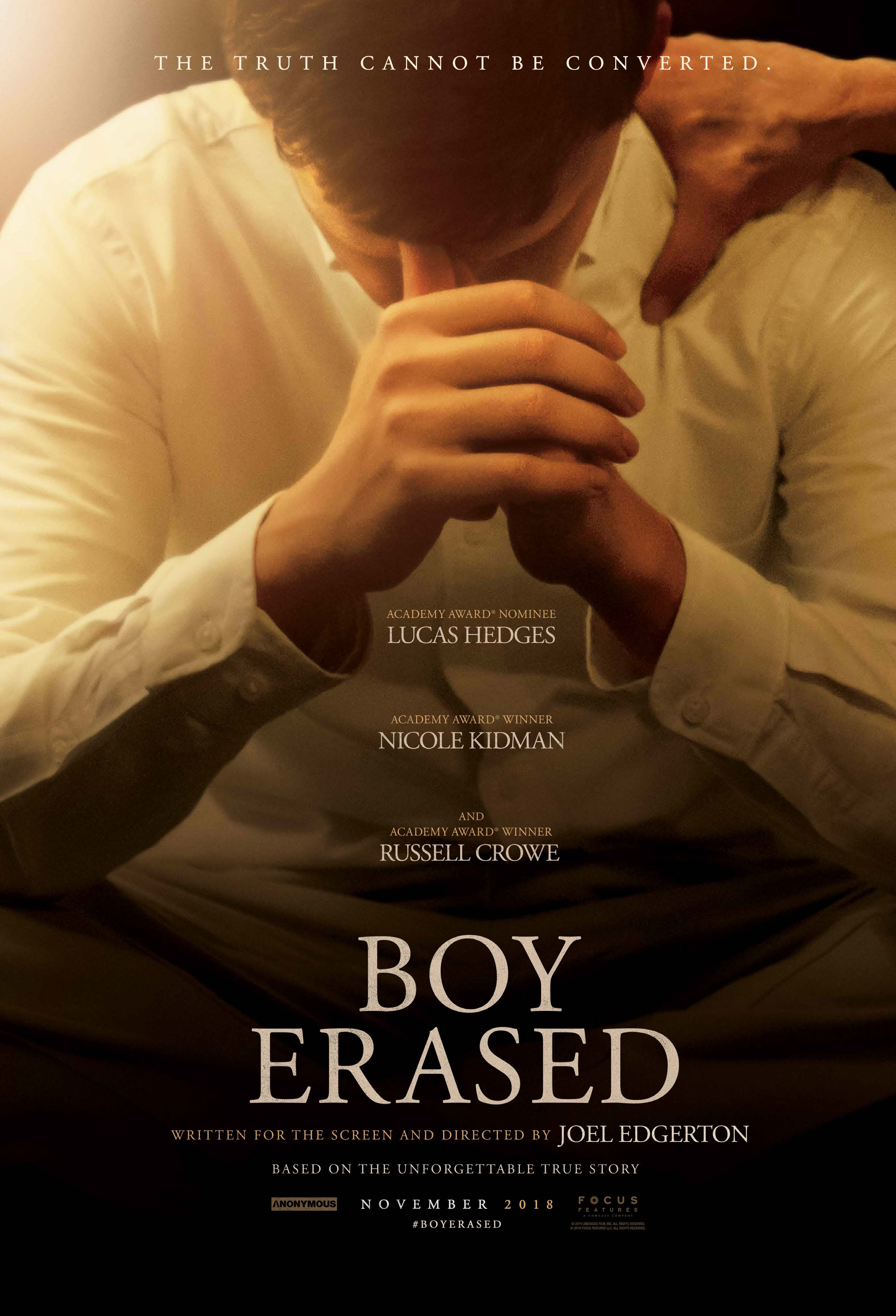 "Movie poster image for ""BOY ERASED"""