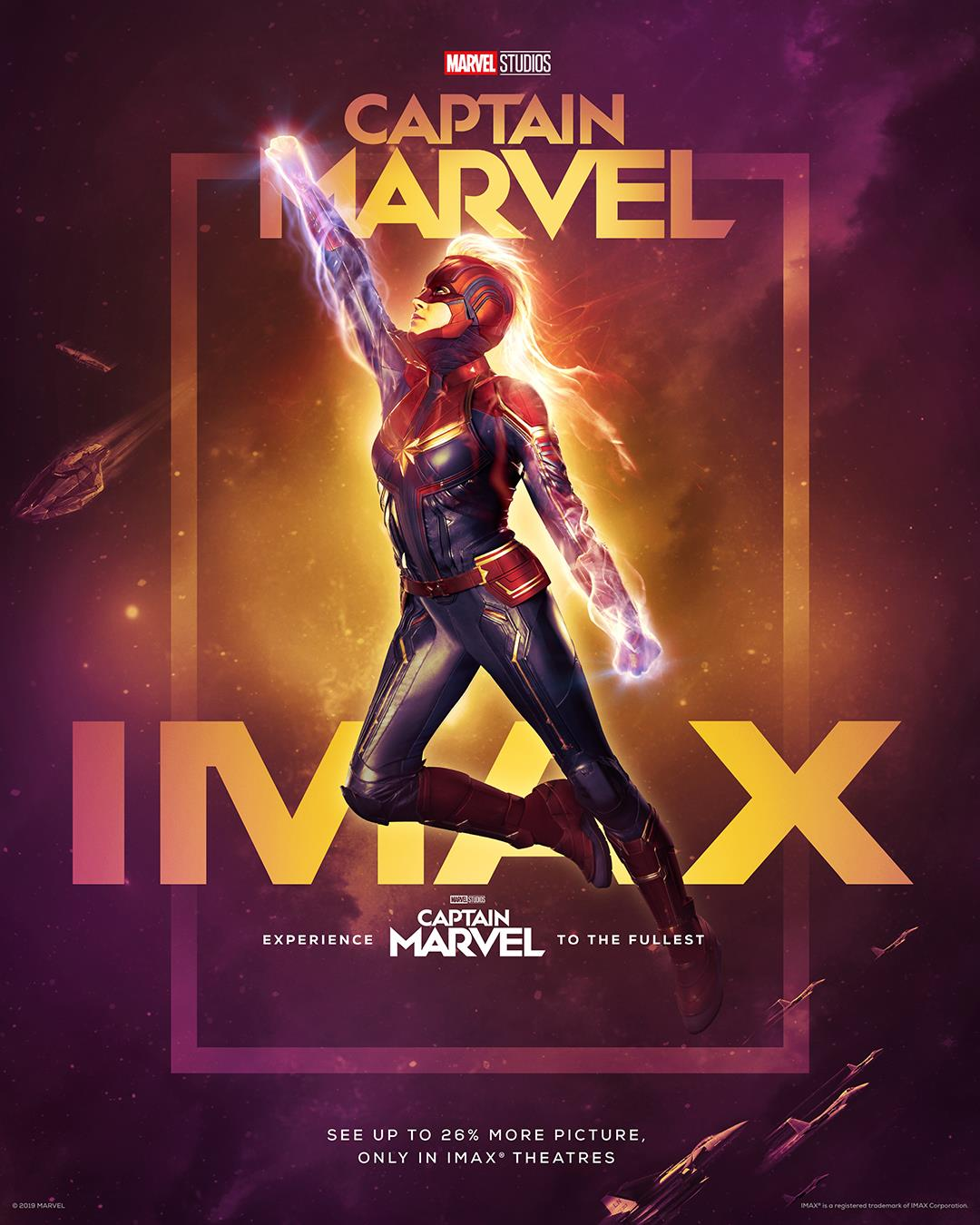 "Movie poster image for ""CAPTAIN MARVEL in IMAX"""