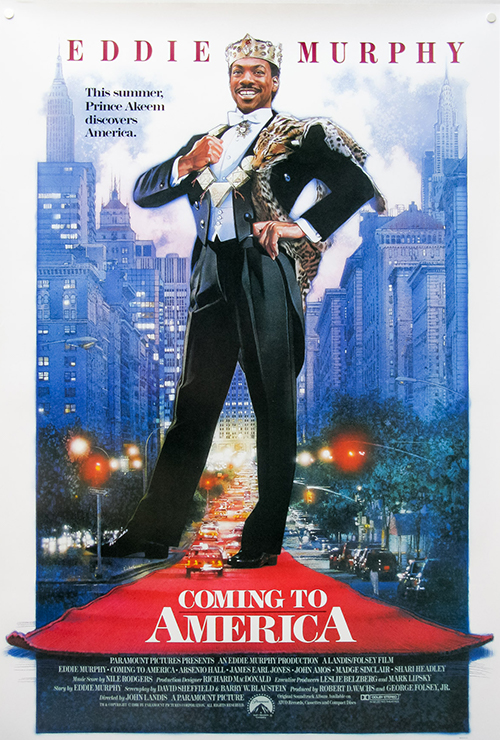 """Movie poster image for """"COMING TO AMERICA"""""""