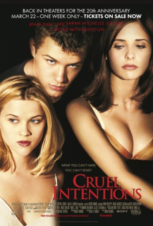 "Movie poster image for ""CRUEL INTENTIONS: 20TH ANNIVERSARY"""