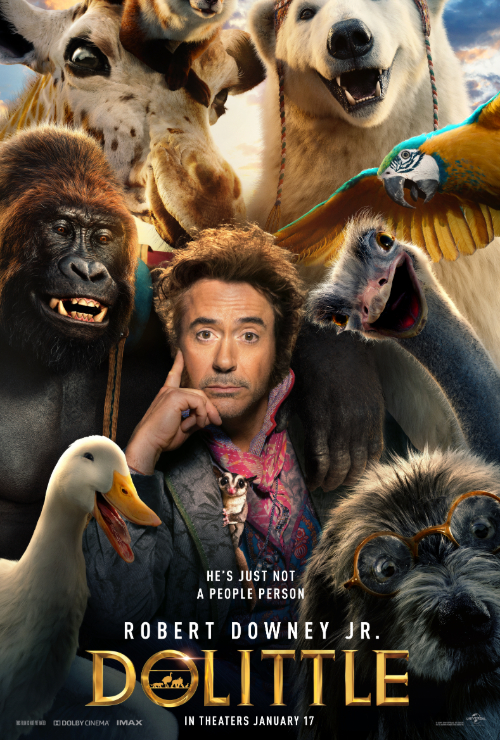 "Movie poster image for ""DOLITTLE"""