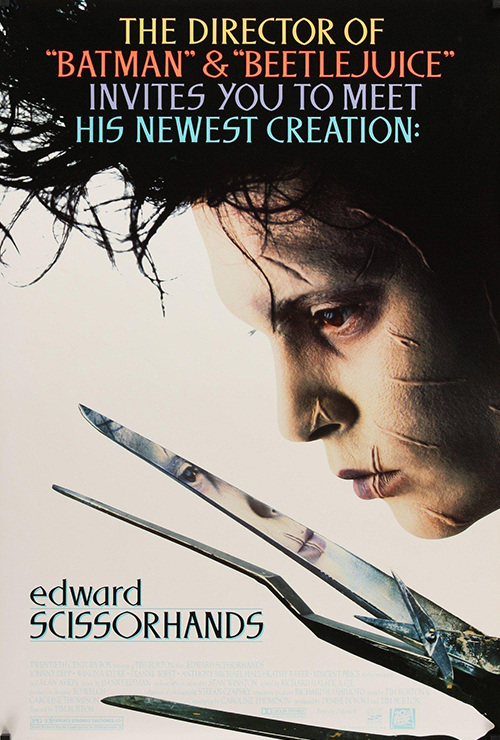 "Movie poster image for ""EDWARD SCISSORHANDS """