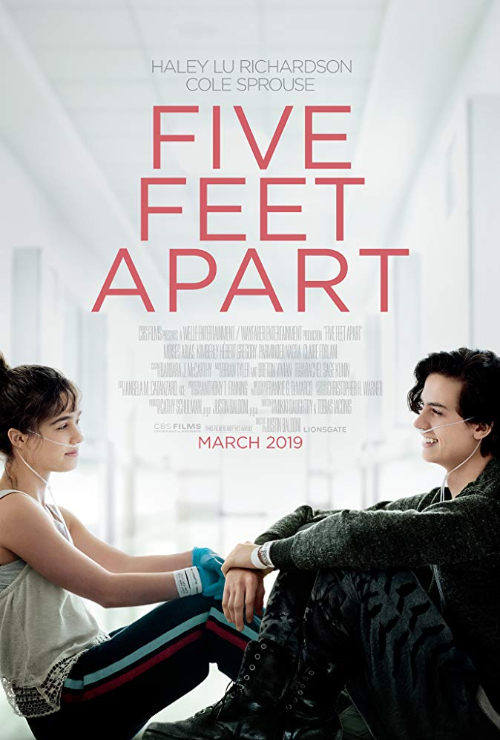 "Movie poster image for ""FIVE FEET APART"""