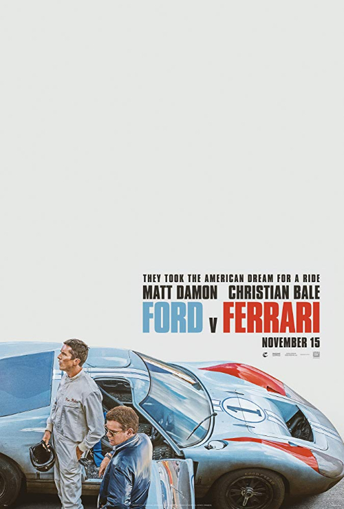 "Movie poster image for ""FORD V FERRARI"""