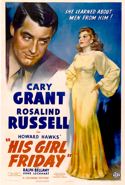 "Movie poster image for ""HIS GIRL FRIDAY"""