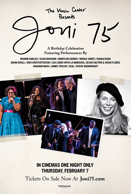 "Movie poster image for ""THE MUSIC CENTER PRESENTS: JONI 75 - A BIRTHDAY CELEBRATION"""
