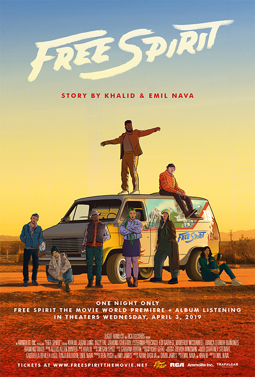 "Movie poster image for ""KHALID: FREE SPIRIT"""