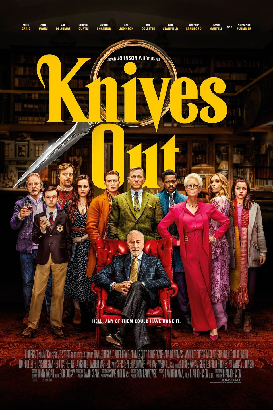 "Movie poster image for ""KNIVES OUT"""