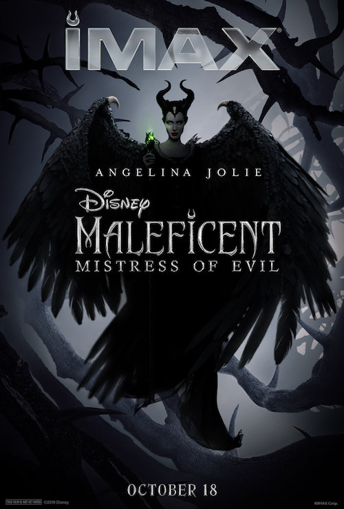 """Movie poster image for """"MALEFICENT: MISTRESS OF EVIL in IMAX"""""""