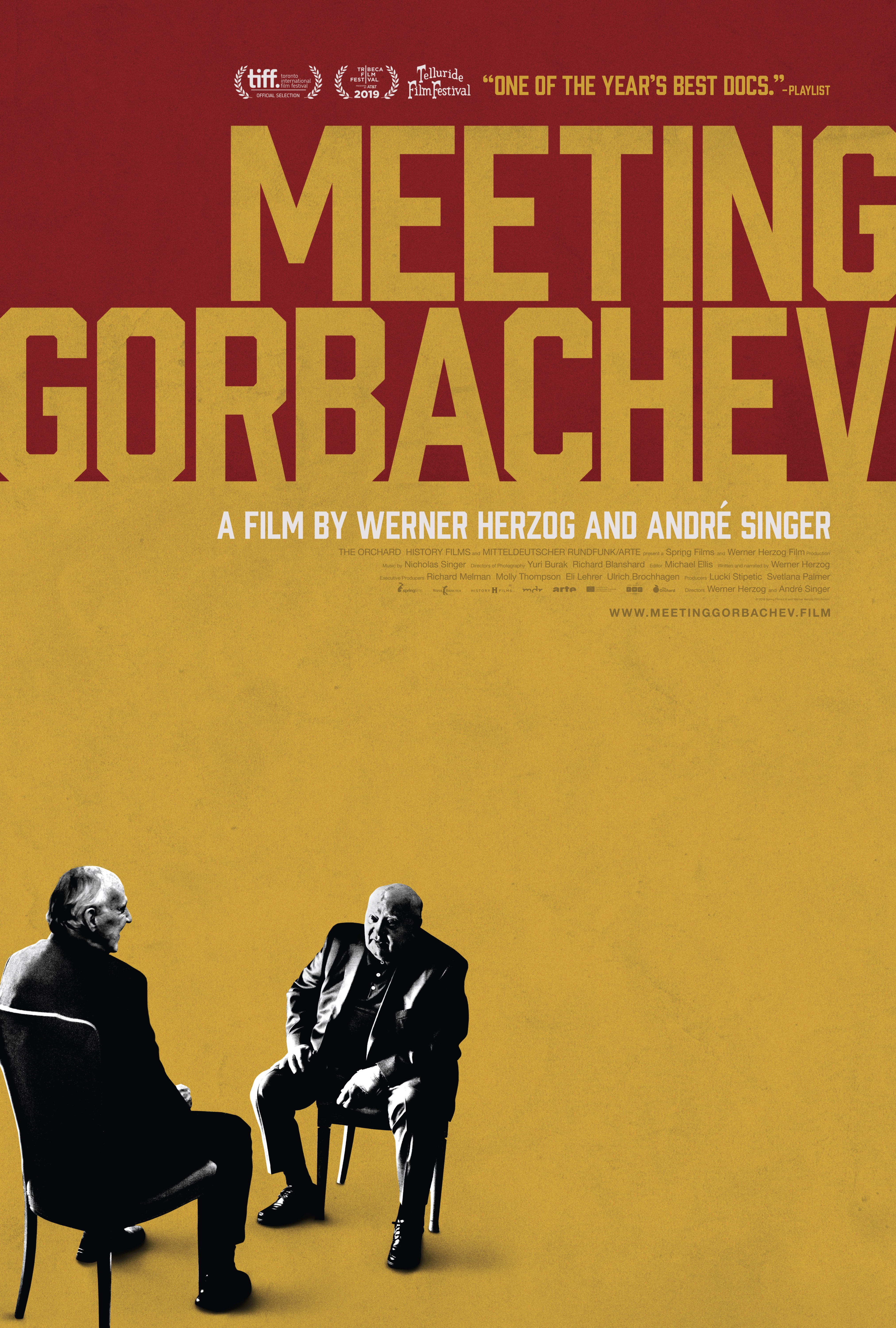 "Movie poster image for ""MEETING GORBACHEV"""