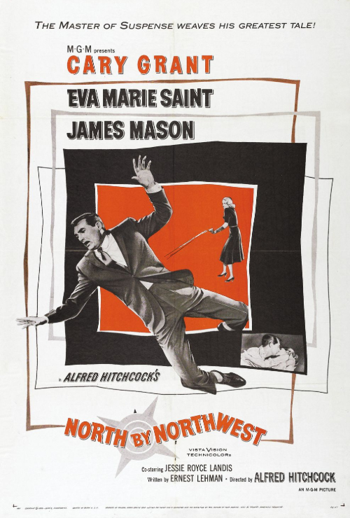 "Movie poster image for ""NORTH BY NORTHWEST - Hitchcocktober"""