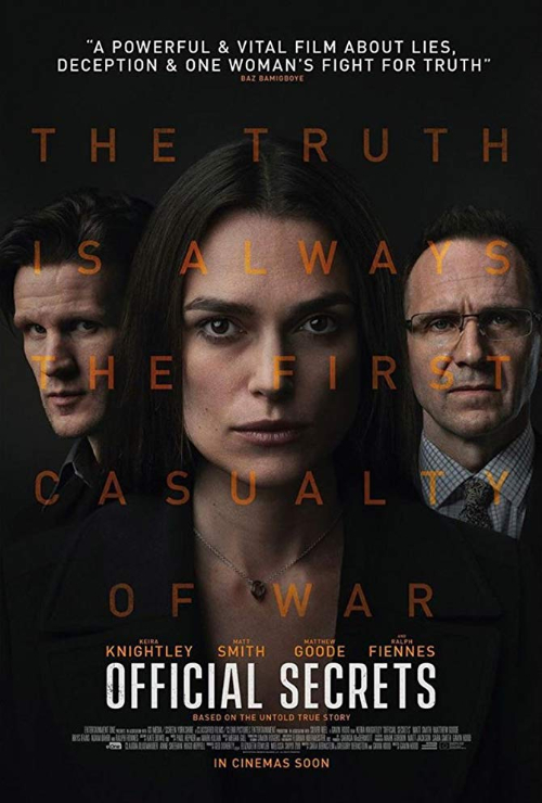 "Movie poster image for ""OFFICIAL SECRETS"""