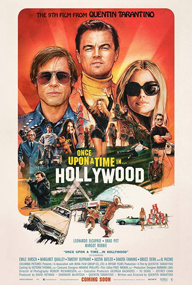 "Movie poster image for ""ONCE UPON A TIME IN HOLLYWOOD"""