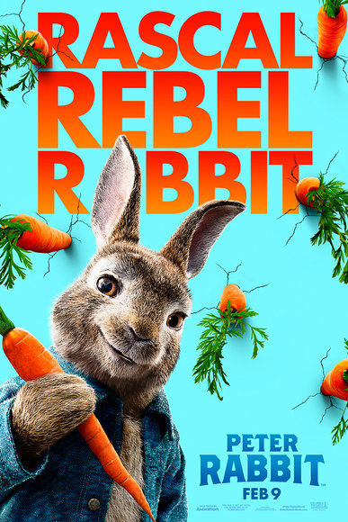 "Movie poster image for ""PETER RABBIT"""