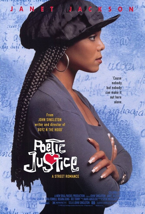 """Movie poster image for """"POETIC JUSTICE"""""""