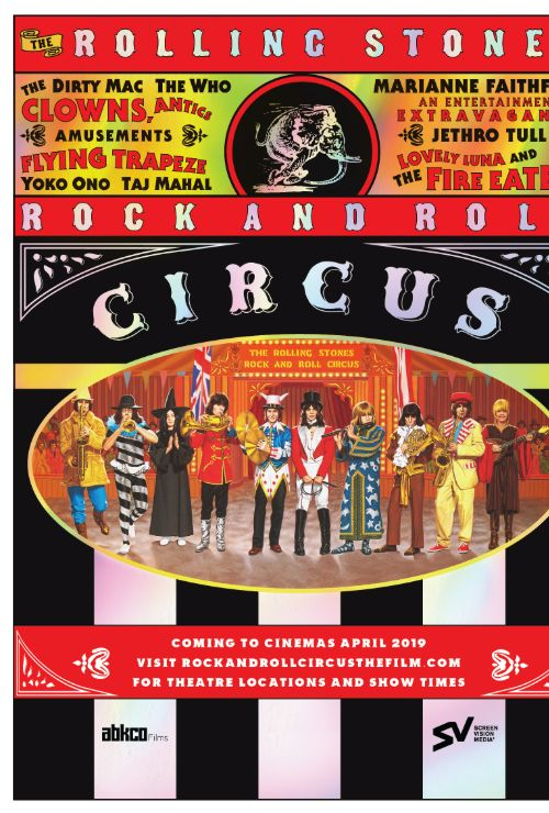 """Movie poster image for """"THE ROLLING STONES ROCK AND ROLL CIRCUS"""""""