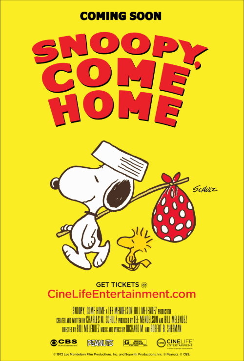 "Movie poster image for ""SNOOPY COME HOME"""
