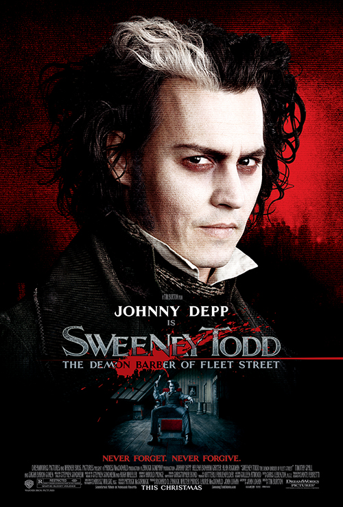 "Movie poster image for ""SWEENY TODD: THE DEMON BARBER OF FLEET STREET"""