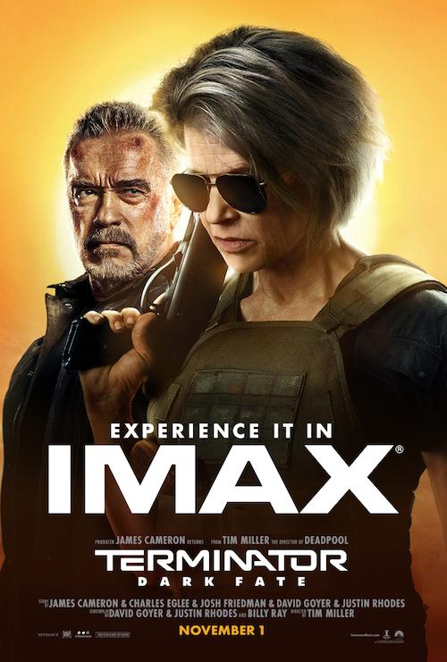 """Movie poster image for """"TERMINATOR: DARK FATE in IMAX"""""""