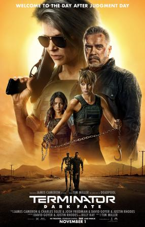 "Movie poster image for ""TERMINATOR: DARK FATE"""