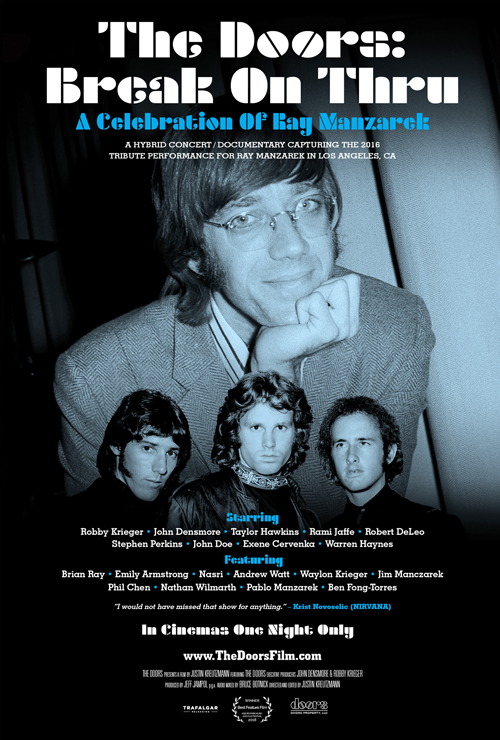 "Movie poster image for ""THE DOORS: BREAK ON THRU -  A CELEBRATION OF RAY MANZAREK"""