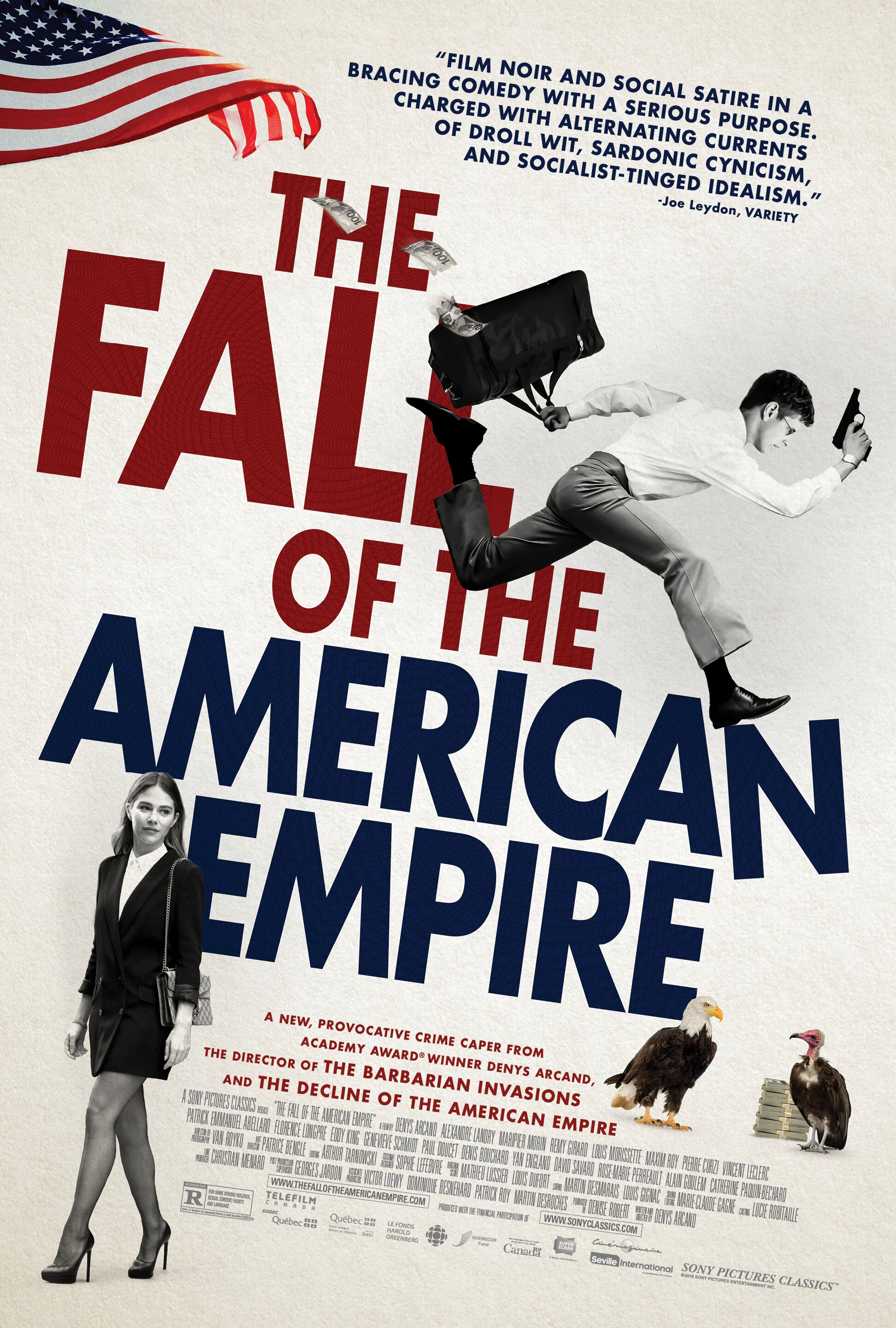 "Movie poster image for ""THE FALL OF THE AMERICAN EMPIRE"""