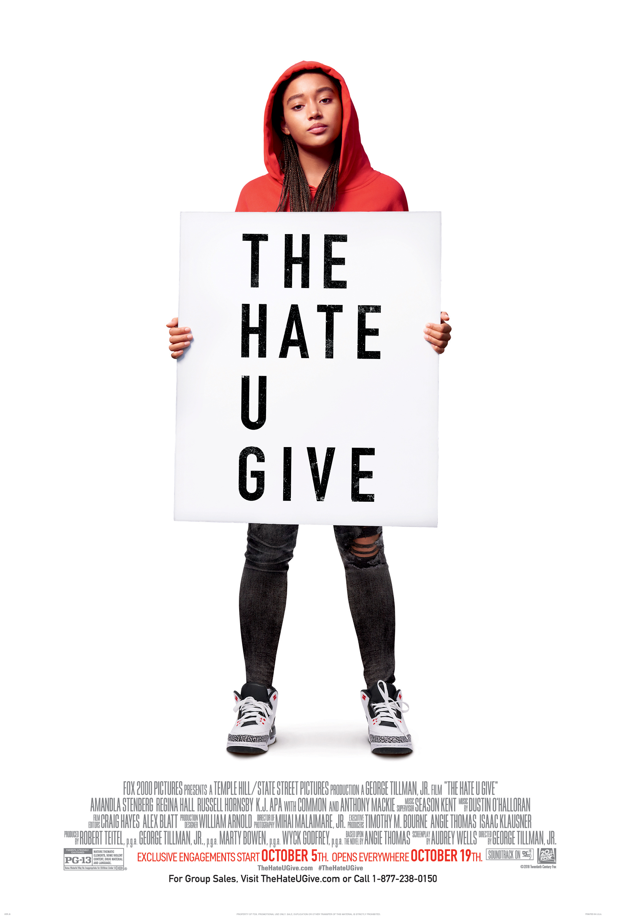 "Movie poster image for ""THE HATE U GIVE"""