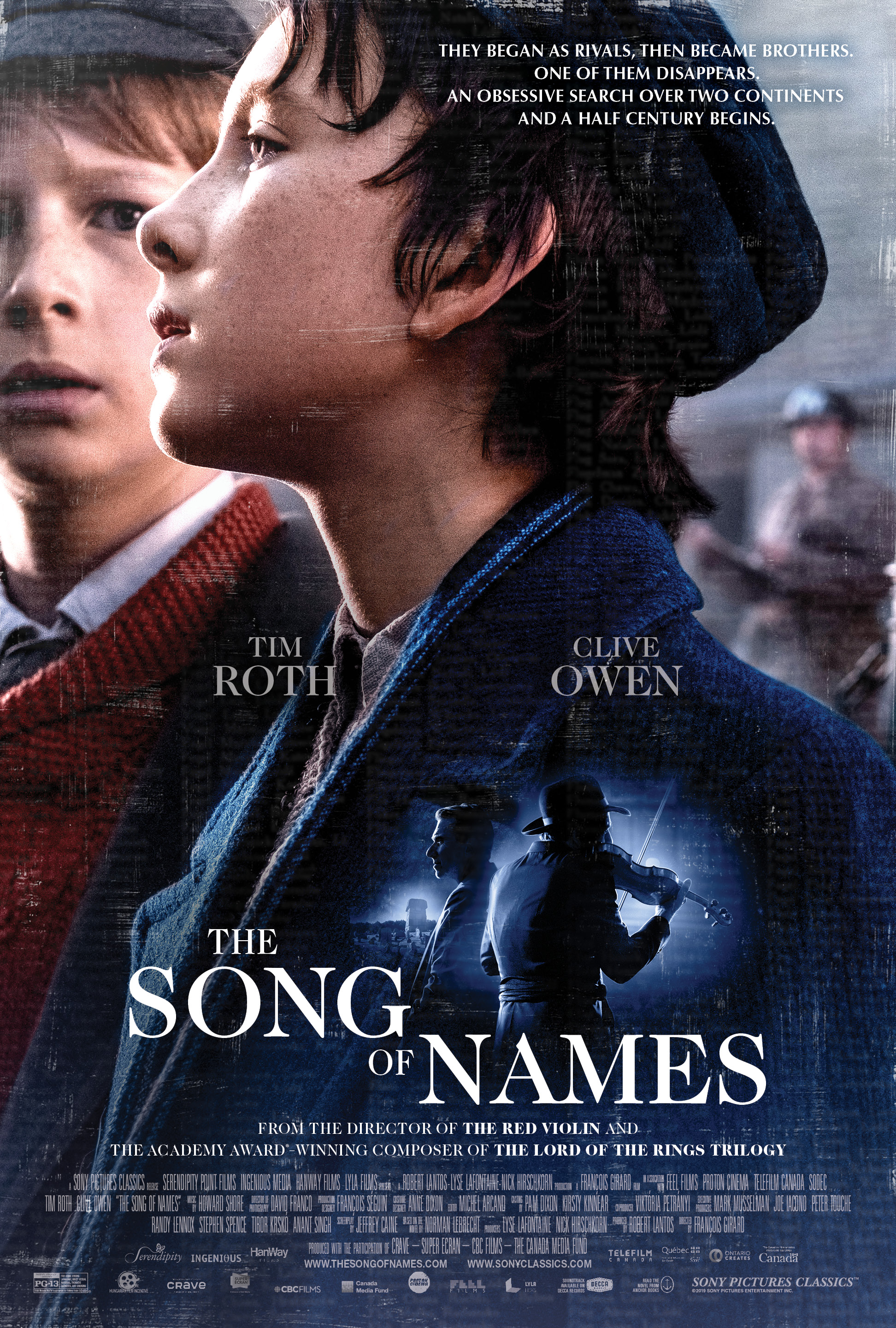 "Movie poster image for ""THE SONG OF NAMES"""