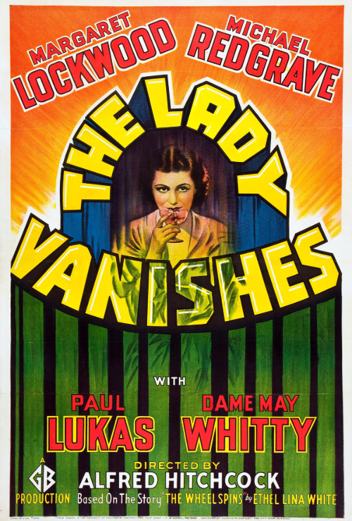 "Movie poster image for ""THE LADY VANISHES - Hitchcocktober"""