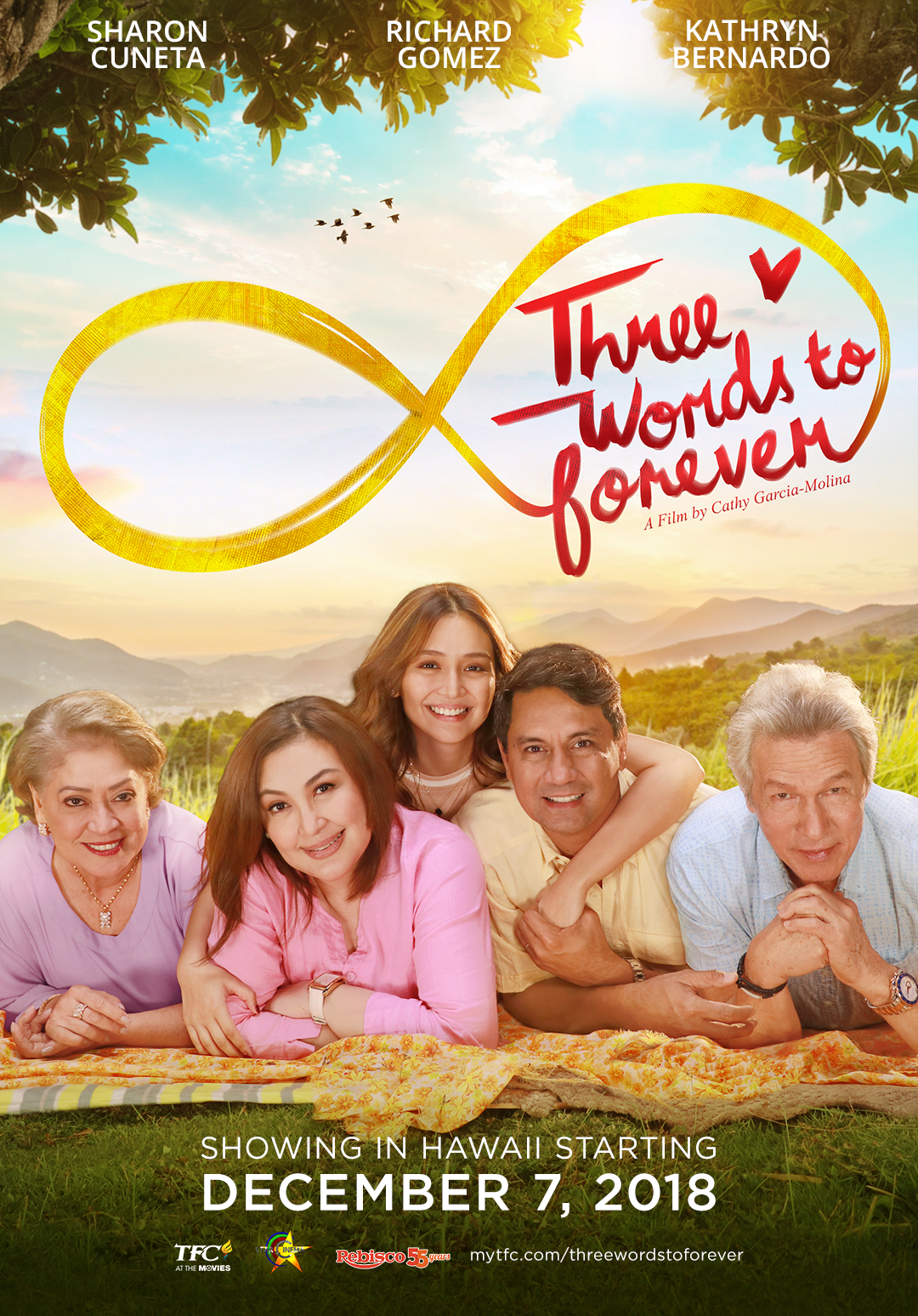 """Movie poster image for """"THREE WORDS TO FOREVER"""""""