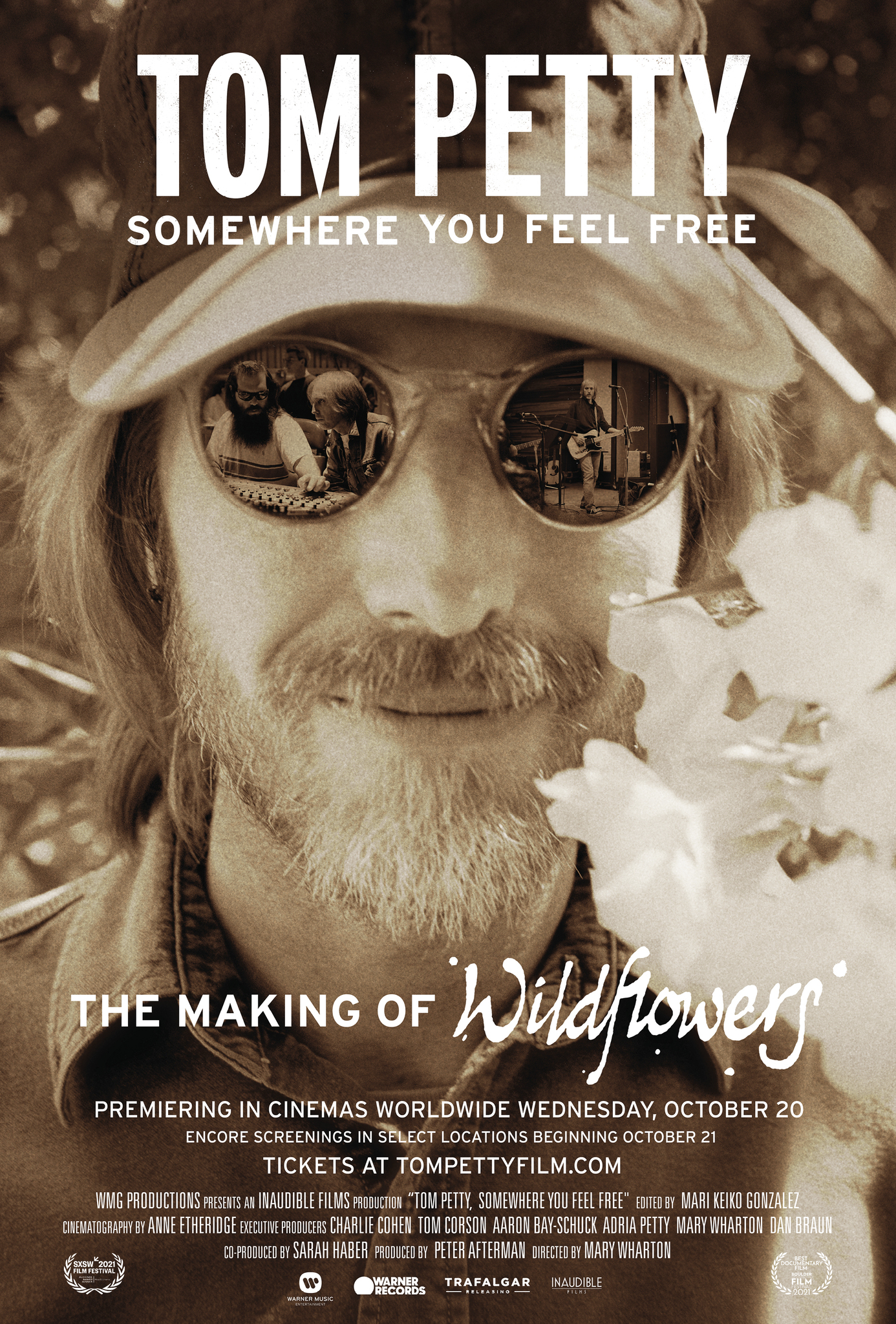 Movie poster image for TOM PETTY, SOMEWHERE YOU FEEL FREE: THE MAKING OF WILDFLOWERS